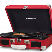 CROSLEY CRUISER DELUXE [CR8005D-RE] Red Виниловый проигрыватель c Bluetooth