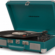 CROSLEY CRUISER DELUXE [CR8005D-TL] Teal Виниловый проигрыватель c Bluetooth