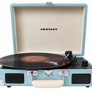 CROSLEY CRUISER DELUXE [CR8005D-TU] Turquoise c Bluetooth Виниловый проигрыватель